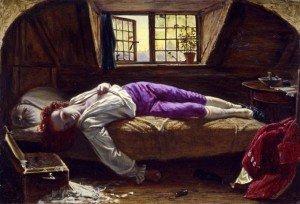 """La mort de Chatterton"" Henry Wallis"